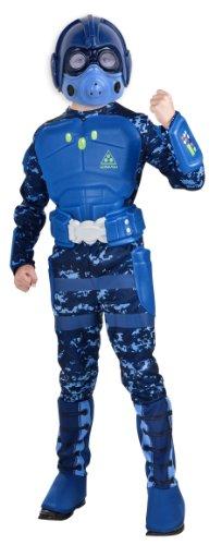 Rubie's Deluxe Blue Stealth Warrior Costume - Medium (8-10)