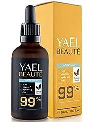 VAINQUER DU TEST 2018: Sérum Vitamin C & Acide Hyaluronique ● Compatible Dermaroller ● 99% naturel ● Soin du visage femme & homme