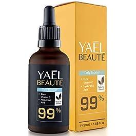 Siero con Vitamina C e acido ialuronico puro ● anche per dermaroller ● illuminante e antirughe ● 99% naturale ● vegano…