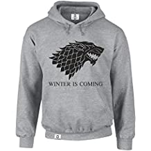 Sweat à capuche Game of Thrones Winter Is Coming (en anglais) Pull à capuche Schattenwolf