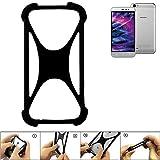 K-S-Trade Handyhülle Medion Life P5006 Silikon Schutz Hülle Cover Case Bumper Silikoncase TPU Softcase Schutzhülle Smartphone Stoßschutz, schwarz (1x)