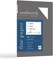 ورق أعمال القطن بنسبة 25% من ساوثورث، 9 كجم، أبيض، عدد 100 قطعة (P403C), ابيض 100 Sheet
