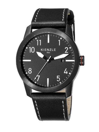 Kienzle - K3081043011-00098 - Montre Homme - Quartz Analogique - Bracelet Cuir Noir
