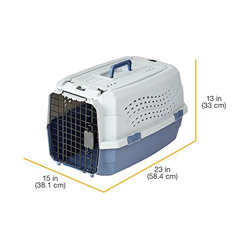 AmazonBasics Transportbox für Haustiere, 2 Türen, 1 Dachöffnung, 58cm - 11