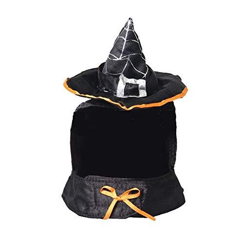 Yonfan Hunde Katzen Kostüme, Hundekostüm Halloween Hexe Katzen Kostüm Zauberer Hut für Klein Katzen Hunde Welpen Halloween, Party, - Hexe Kostüm Für Hunde