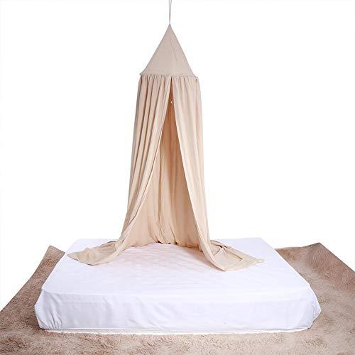 Hongzer Kinderbett Baldachin, Multicolor Runde Kuppel hängenden Bett Baldachin Moskitonetz Vorhang für Baby Kinder Spielen Schlafzimmer Dekor(Khaki)