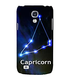 Fuson 3D Printed Sunsign Capricorn Designer back case cover for Samsung Galaxy S4 - D4472
