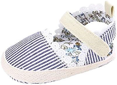Bebé Prewalker Zapatos Auxma Primeros caminante de la princesa del niño del bebé zapatos Sandalias para 0-6 6-12 12-18 meses