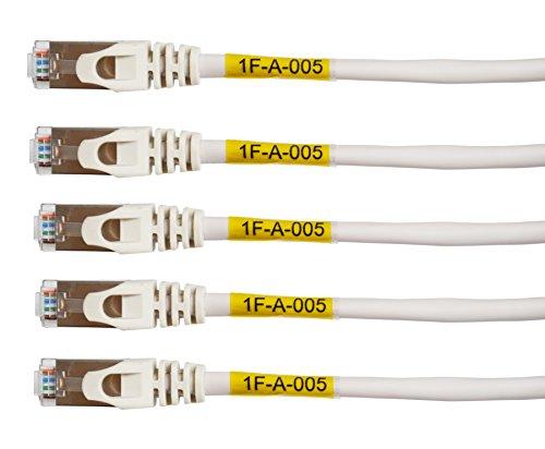 Mr-Label® Kabel-Etiketten, Vinyl, selbstlaminierend, bedruckbar, wetterfest, für Kabel-Zuordnung,A4Blatt