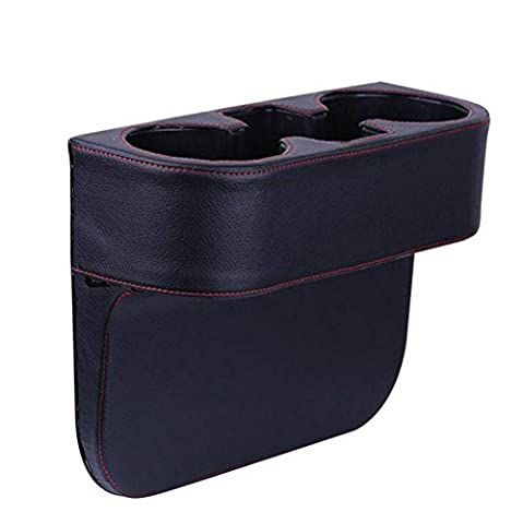 Ruyi&Jixiang1Pc Auto Leder Tasse Halter Sitz Lücke Lagerung Box , Black