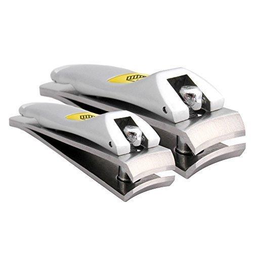 Harperton Klipit Nail Clipper Set – Fingernail + Toenail – Stainless Steel by Harperton