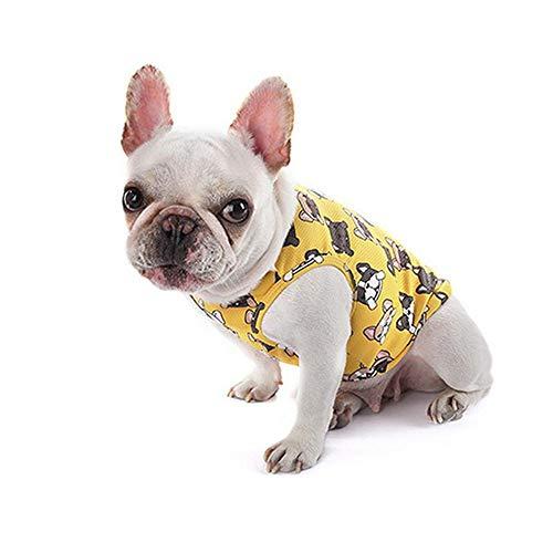 ZHONGCHENYI Pet Supplies Hund Kleidung Sommer Haustier Kühlung T-Shirt Weste Schnell Trocknende Weste Welpen T-Shirt Jacke Zubehör Kleidung Kostüme Haustier Kleidung, L