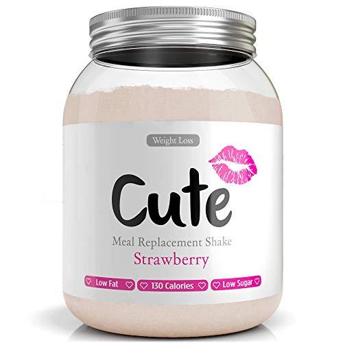 Cute Nutrition Shakes Substituts de Repas Fraise Pour le Contrôle de la Perte de Poids Boisson Diététique en Poudre Pour Femmes Pot de 500g