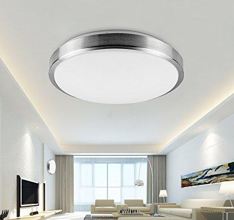 Style Home® LED Deckenlampe Deckenleuchte Küchenlampe Wandlampe Schlafzimmer  Wohnzimmer Diele Keller Warmweiss Leuchte Rund X001