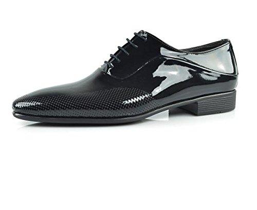 CAPRIUM Lackschuhe Derbyschuhe Schuhe Business Glänzend, Herren E1526