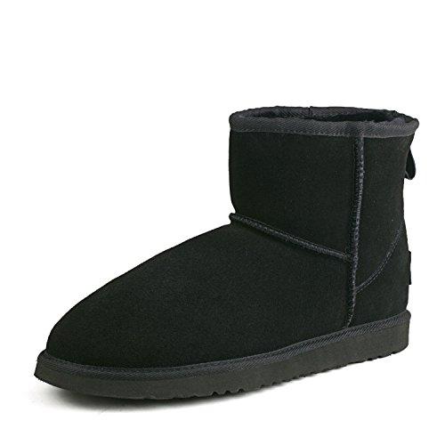 Shenduo - Chaussures fourrées de cuir pour homme, Bottes & Boots classiques  courtes doublure chaude