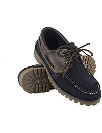 d65927ff Zerimar Zapato Náutico de Piel para Hombre | Zapatos Náuticos Ligeros |  Mocasines Cuero | Mocasines