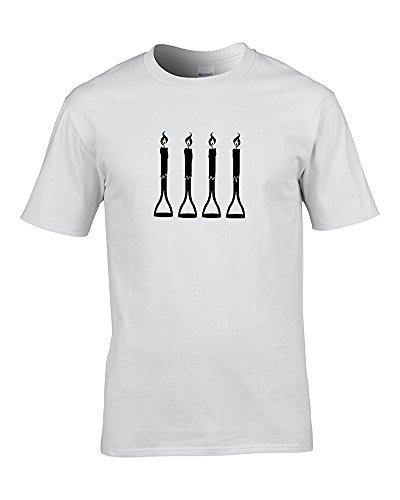 Gabel Griffen Classic Comedy Sketch Zwei Ronnies inspiriert Herren T-Shirt von Fat Kuckuck Weiß - Weiß