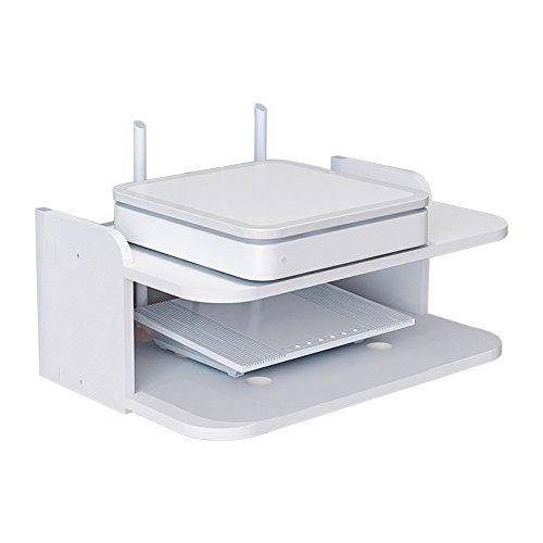 Lagerregal ZHIRONG Router-Aufbewahrungsbox/Wand-Set-Top-Box, DVD-Rack/High-Density-Board TV Wandbehang/Player Rack/Weiß -