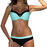 Bfmyxgs Womens Fashion Padded Push-up Bra Bikini Set Swimsuit Bathing Suit Swimwear Beachwear