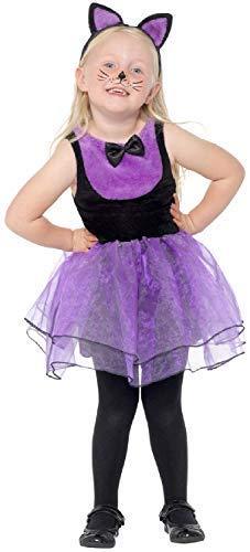 Fancy Me Kleinkind Mädchen Hexen Schwarze Katze Tutu Niedliche Tier Tv Buch Film Halloween Kostüm Kleid Outfit - Lila, 1-2 Years