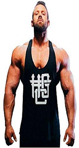 Preisvergleich Produktbild Hardgainer Crew T-Shirt Shirt Trainingsbekleidung Bodybuilding Herren Tanktops (M, HGC Stringer Tank)