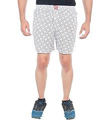 Abony Men's Yellow & White Floral Printed Boxer Short