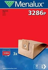 Menalux 3286P 3 Sacs Aspirateur Compatible pour Nilfisk