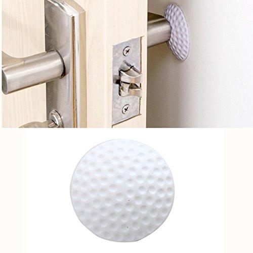 BAITER 10pezzi di maniglia per porta Bumper a schermo per pomello Crash Pad adesivo da parete fermaporta tappo di protezione White