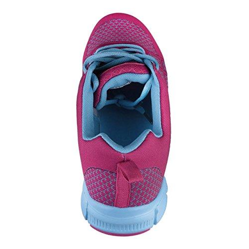 HSM , Baskets pour femme Pink/Hellblau