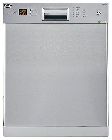 Beko DUN 6634 FX Unterbau Geschirrspüler/ Einbau / A++ / 13 Maßgedecke / 44 db / Edelstahl / BLDC-Gleichstrommotor / Waterstop / 59.8