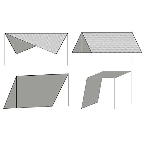 vidaXL Unisex Jugend Sonnensegel mit Gestell HDPE Quadrat 3x3m Sonnenschutz Beschattung, One Size