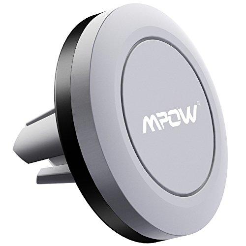 Mpow Support Magnétique Téléphone Voiture à Grille d'Aération, Support Aimanté Compatible avec iPhone 8/7/6/5, LG, Huawei, wiko et d