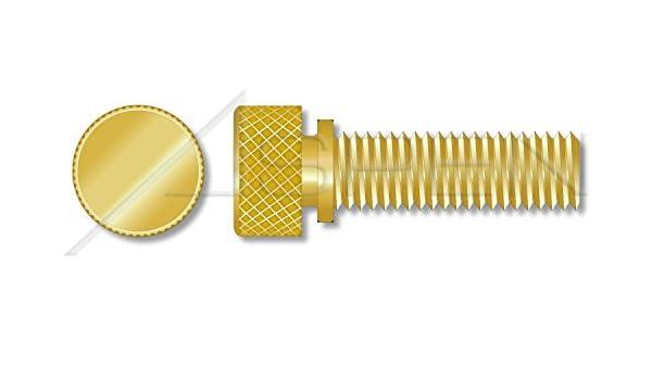Knurled Head with Shoulder 10 pcs Brass ASPEN FASTENERS #6-32 X 1//4 Thumb Screws