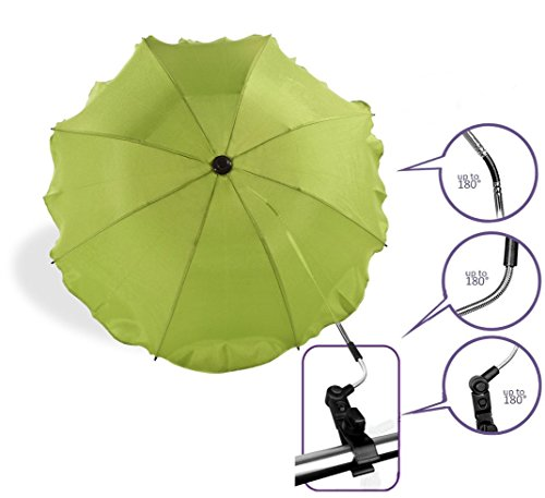 Baby Pram Pushchair Sun Parasol / Universal Umbrella Shade Canopy (Green)