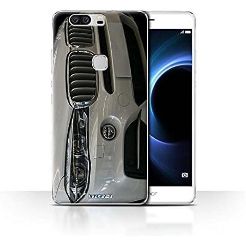 Custodia/Cover/Caso/Cassa Rigide/Prottetiva STUFF4 stampata con il disegno BMW per Huawei Honor V8 - Paraurti Anteriore/Bianco