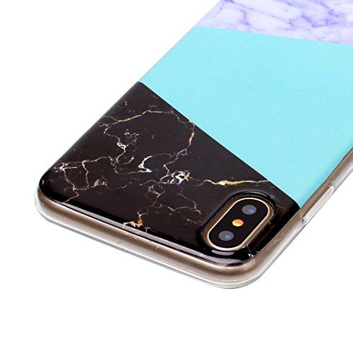 iPhone X Case, iPhone 10 Hülle Silikon, Moon mood® TPU Silikon Handyhülle Schutzhülle Case für Apple iPhone 10 X 5.8 Zoll Thin Dünn Weich TPU Schutz Etui Cover, Flexibel Silikon Case Cover Backcover S Muster 7