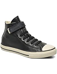 1d6d016f88f Converse Chuck Taylor Hi Strap Black Leather Junior UK 5.5