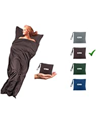 Oule Hüttenschlafsack Inlett aus Mikrofaser Rechteckform ideal für Hotel City-Reise