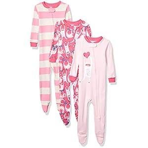 Marca Amazon - Spotted Zebra 3-Pack Snug-fit Cotton Footed Sleeper Pajamas Unisex bebé 5