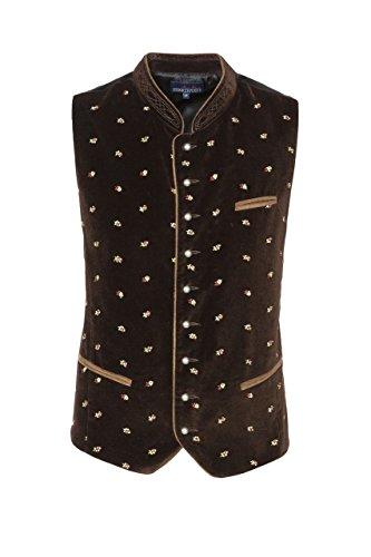 Stockerpoint - Herren Trachten Weste in verschiedenen Farbtönen, Calzado, Größe:46, Farbe:Braun