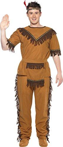 Indianerkost�m braun Indianer H�uptling Apache Herren Kost�m Gr L (Apache Indian Kostüme)
