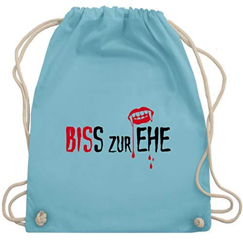 JGA Junggesellinnenabschied - Biss zur Ehe - Unisize - Hellblau - WM110 - Turnbeutel & Gym Bag (Brides Of Dracula Kostüm)