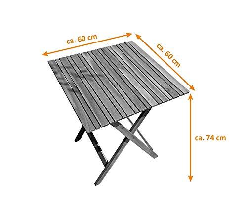 SAM® 3tlg. Balkon- Sitzgruppe - 5