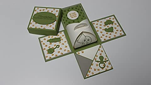 3 in 1 Baby Geschenk, Glückwünsche zur Geburt Tochter/Sohn, Geschenk für die Mutter, einzigartige Geschenkverpackung, Geldbox und Karte für persönliche Worte für frischgebackene Eltern