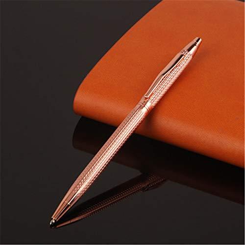 6 stylos à bille en métal ondulé de haute qualité rechargeable écriture shell lisse 133X7.6MM (1.0MM)