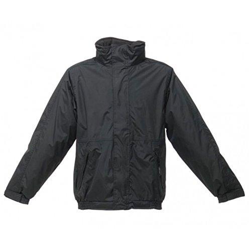 Herren Regatta Dover Wasserdichte Hydrafort-Polyester Jacke, winddicht Top Schwarz - Black/Ash