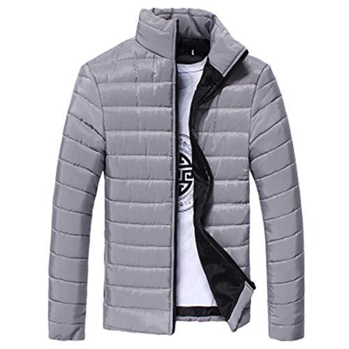 Meihet Piumino da uomo leggero impacchettabile da uomo Cappotto invernale  con zip e collo caldo f38caf9fc70
