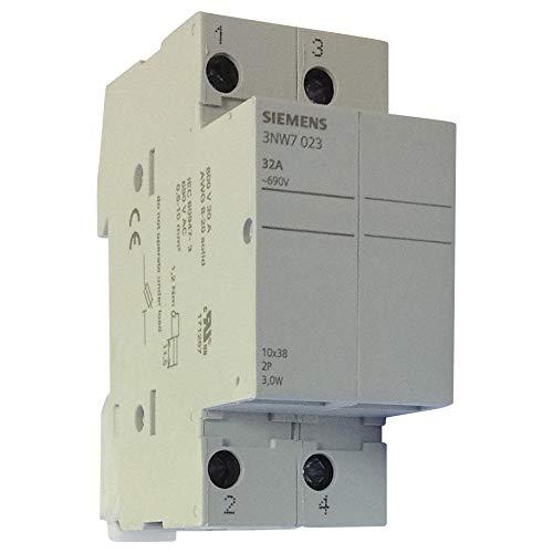 3NW7023 | SIEMENS CYL 10X38MM 32A DP BASE NO DETECTORS Detector Base