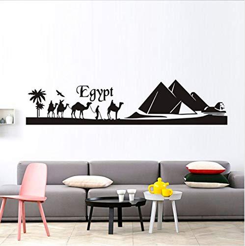 Xiaodan's shop Ägypten Pyramide Skyline Kamel Sand DIY Wandaufkleber Kunst Aufkleber Wandbild Vinyl Wandaufkleber Ausgangsdekor Wohnzimmer 40X177Cm